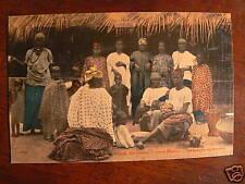 cpa senegal village porte maillot femmes costume animee