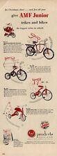 1953 AMF  PRINT AD Junior Vehicles Bike & Trike Bicycle 4 models Great Vintage