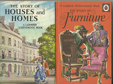 LADYBIRD 2 x Achievements THE STORY OF HOUSES AND HOMES 1st & STORY OF FURNITURE