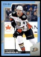 2020-21 UD O-Pee-Chee Blue Border #367 Hampus Lindholm - Anaheim Ducks