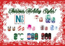 New Nail Polish Strips Holiday Christmas Styles, 16 Ct Free Shipping!