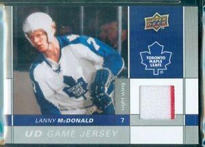 Upper Deck 2009/10 Hockey ( GJ-LM ) Lanny McDonald  Game Jersey Card