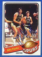 BILLY PAULTZ autographed  signed 1979-80 Topps San Antonio Spurs