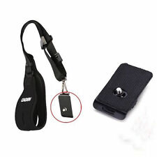1/4 dégagement rapide plaque de montage pour caméra rapide Épaule Cou Sling sangle ceinture