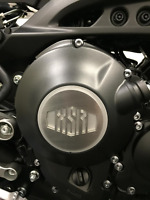 Yamaha XSR 900 Brushed Stainless Clutch Cover Top XSR900 SELF ADHESIVE FREE POST