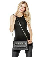 NWT GUESS Jensyn Chain Crossbody Clutch Handbag Purse Black