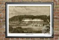 Old Map of Dover, NH from 1888 - Vintage New Hampshire Art, Historic Decor