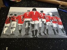 """Manchester United MUFC Icons Canvas Print (26""""x18"""")"""