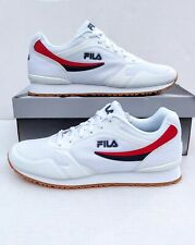 New FILA Forerunner 18 Mens Athletic/Casual Shoes White -Red/Blue Sz 11.5 US NWB