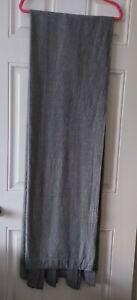 Pair Of Long Grey Curtains - Ikea - Tab Top