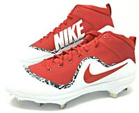 Nike Force Air Trout 4 PRO University Red Men's Baseball Metal Cleats 917920 668