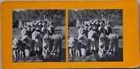 Argérie Preghiera Musulmano Foto Stereo PL47 Vintage Analogica c1900