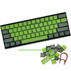 Green Thick PBT OEM Profile 104 Keycaps ANSI For Cherry MX Mechanical Keyboards
