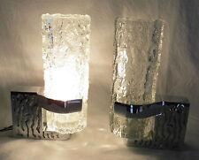 Badezimmerlampen Spiegellampen 60er 70er Jahre Kristallglas Chrom