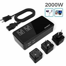 Key Power LXC2000W Voltage Converter & International Travel Adapter Power Strip