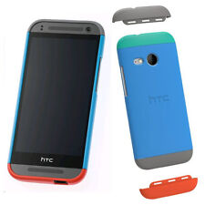NEW GENUINE HTC HC C971 DOUBLE DIP HARD SHELL CASE COVER FOR ONE MINI 2 - BLUE