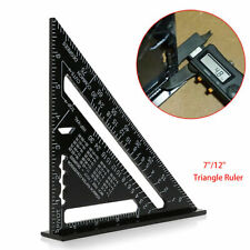"7""/12"" Aluminum Alloy Speed Square Quick Roofing Rafter Triangle Ruler Guide"