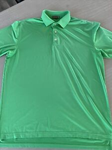 Peter Millar Kelly Green The Ace Club Golf Polo Men Large  Summer Comfort