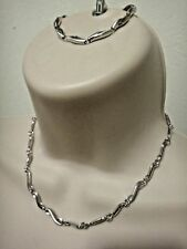 NWT Fossil .925 Sterling Silver Necklace & Bracelet  jewelry (Sell by Set)