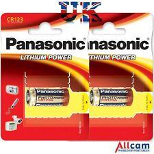 2 PK: Panasonic CR123A Lithium Camera Battery (2 pack), New, Retail Blister
