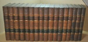 1825 The Works of Francis Bacon Full Leather Bound 17 Volume Set