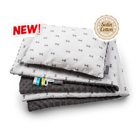 Grey Bows Baby Blanket Baby Nest Soft High-Quality Pillow Blanket  Satin Cotton
