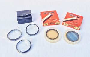 Vintage KITSTAR Precision 52mm Optical Filters + Case & 3 Close Up 55mm Filters