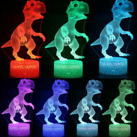 Dinosaur Crack 3D Small Table Lamp Colorful Touch LED Night Light Creative Gift
