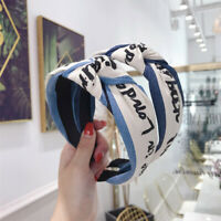 Women's Knot Hairband Headband Cloth Letters Tie Head Band Hair Hoop Accessories