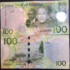 LESOTHO 100 MALOTI 2013 / 2016 P 24 NEW SIGN UNC