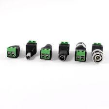2pzs Coaxial a BNC Macho + 4 Pzs 5.5x2.1mm Conector de CCTV DC macho hembra Q6E6