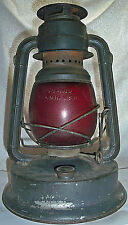 Vintage Dietz Little Giant Lantern Red Globe 70 Hour Made in USA