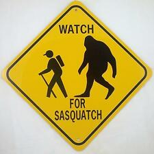 Watch For Sasquatch Xing Style Aluminum Sign Won't rust or fade Bigfoot