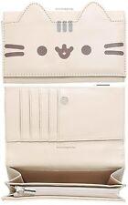 Pusheen Cat Figural Snap Flap Wallet Clutch Billfold Zipper Pouch NWT