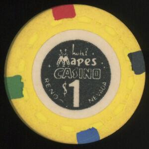 $1 MAPES CASINO RENO NEVADA CASINO CLUB POKER CHIP GAMBLING