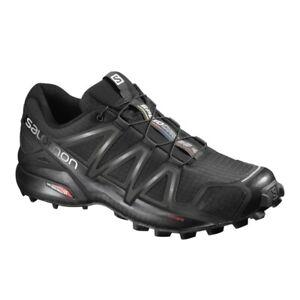 Salomon Mens Speedcross 4 Lightweight Trail Running Hiking Shoes Black