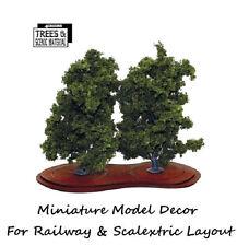 2x Mature Ash Model Tree Train Railway & Slot Cars Scenery Miniature Deco Layout