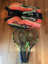 New listing Babolat Pure Aero Tennis Racquets 4 1/4 (set of 3) + La Decima 12-pack Tnmt Bag