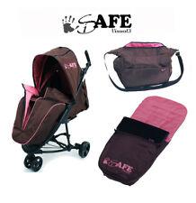 Baby Stroller iSafe 3 Wheeler Pram Visual 3 - Raspberry Cake Complete Package