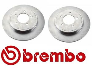 2 Brembo nEw Rear Back Brake Disc Rotor Set for Ford Expedition Explorer Mercury