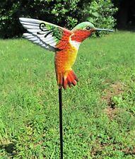 Hummingbird metal yard or garden stakes (A)