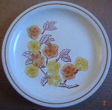 Churchill salade petit déjeuner plaque orange et fleurs jaunes