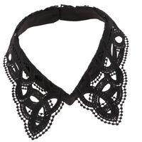 Femmes demi chemise faux collier creux dentelle détachable floral collier