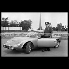 #pha.019530 Photo RENE BONNET DJET & YURI GAGARIN (COSMONAUT) 1962 Car Auto
