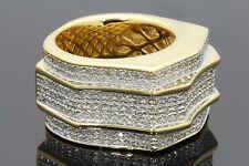 1.81 CARAT MENS YELLOW GOLD FINISH DIAMOND ENGAGEMENT WEDDING PINKY BAND RING