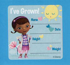 10 Doc McStuffins I've Grown Height and Weight - Large Stickers