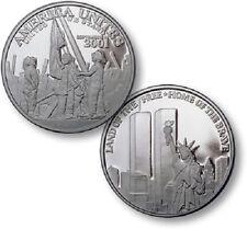 9-11 America Unites - Twin Towers Nickel Proof-Like Round USA Made Bullion Coin