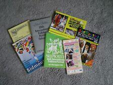 Sidmouth Folk Festival Programmes