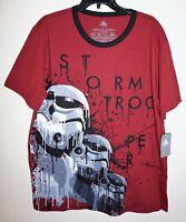 Disney Store STAR WARS Stormtrooper Dripping Burgundy Shirt Men Sz XL  NWT