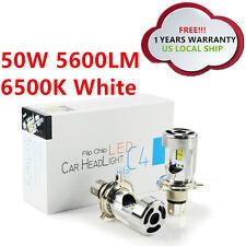 CREE H4 9003 Lamps 50W 5600LM High Low Beam LED Headlight Bulbs White 6500K 12V